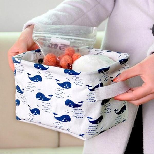 收納盒    布藝時尚棉麻萬用收納盒(4L) 刺蝟 鯨魚 收納箱 收納盒  【BNA033】-收納女王