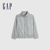 Gap女童 甜美可收納式連帽外套 679620-灰色