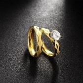 鈦鋼戒指 鑲鑽-經典雙層時尚套戒生日情人節禮物男女飾品73le217[時尚巴黎]
