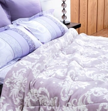 HOLA 典藏可水洗防靜電朵朵法蘭絨毯