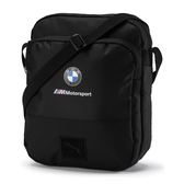 Puma BMW 黑 側背包 斜背包 大容量 側背腰包 多夾層 運動 休閒 包包 07574701