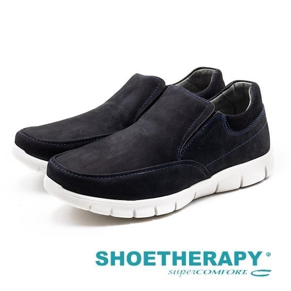 【南紡購物中心】SAPATOTERAPIA 巴西男士 Loafer平穩樂福休閒鞋 - 深藍(另有深咖)