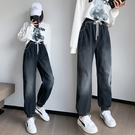 S-6XL大碼牛仔長褲~牛仔褲長褲女高腰蘿卜哈倫褲寬松大碼女裝230斤1568.1F039愛尚布衣