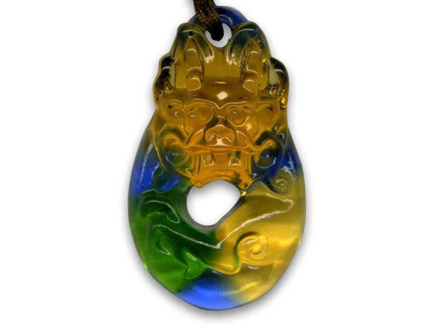 鹿港窯~居家開運水晶琉璃項鍊~唯我獨尊◆附精美包裝◆免運費送到家