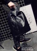 新款男士小背包韓版女雙肩包男包休閒學生書包旅行包pu皮電腦包潮 依凡卡時尚