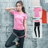 瑜伽服套裝 運動套裝女夏薄款健身房跑步速干衣夏天網紅健身服女兩件套 - 歐美韓熱銷