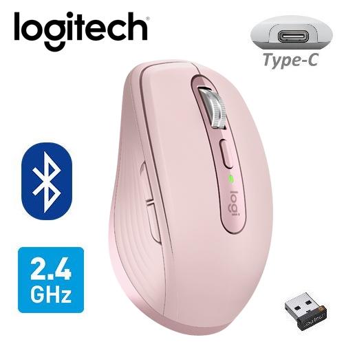 【Logitech 羅技】MX ANYWHERE 3 無線滑鼠 玫瑰