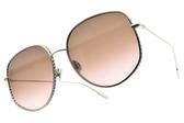 Dior 太陽眼鏡 BY DIOR2 3YG86 (金-漸層灰鏡片) 精緻率性飛行框 墨鏡 #金橘眼鏡