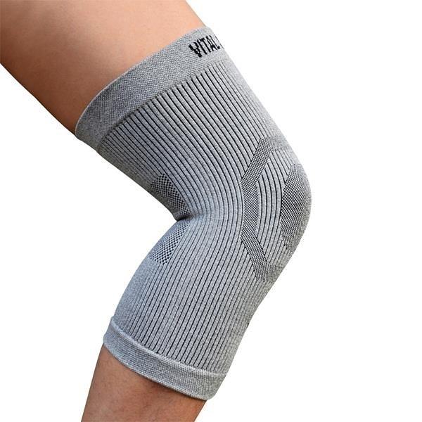 【南紡購物中心】【Vital Salveo 紗比優】防護鍺舒適型護 膝C3(單支入)(淺灰)(保健護具-台灣製造)
