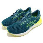 Asics 慢跑鞋 RoadHawk FF2 藍 黃 透氣網布 舒適緩震 運動鞋 男鞋【PUMP306】 1011A136401