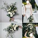 外景旅拍攝影 森系手捧花 長桿小清新拍攝 韓式 新娘婚禮手捧花 幸福第一站