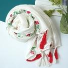 新款時尚棉質柔軟絲巾圍巾 文藝空調披肩 披肩圍巾139