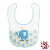 【日本製】【anano cafe】日本製 嬰幼兒寶寶圍兜兜 大象圖案 藍色 SD-2940 - 日本製