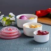 景德鎮骨瓷保鮮飯碗三件套 微波爐飯盒保鮮盒 陶瓷碗便當盒密封盒 igo科炫數位旗艦店