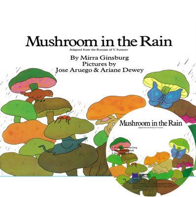 【麥克書店】MUSHROOM IN THE RAIN  /英文繪本附CD《主題:分享》