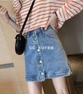 高腰修飾臀型排釦短裙 CC KOREA ...