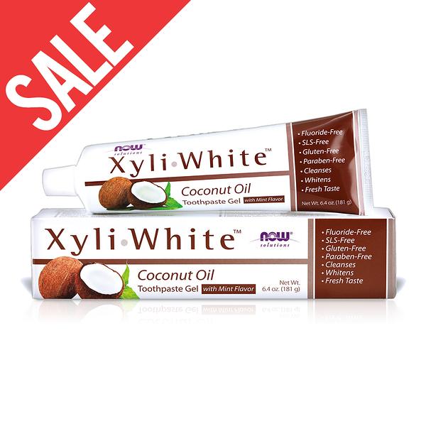 即期【NOW】XyliWhite™薄荷椰子油牙膏(6.4OZ/181g) Coconut Oil Toothpaste Gel 效期2020/12