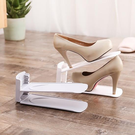 ✭米菈生活館✭【F06】雙層可調節鞋架(單入) 創意  鞋托架 防塵 收納鞋架  可拆卸收納