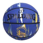 SPALDING NBA隊徽-勇士 #7籃球(7號球 室內 戶外 運動 訓練 斯伯丁 免運 ≡排汗專家≡