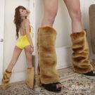 D103 高質感金棕色毛毛腿套