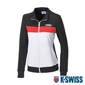 K-SWISS KS Logo Jacket運動外套-女-黑/白