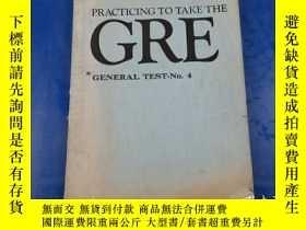 二手書博民逛書店Practicing罕見to Take the GRE General Test-No.4Y23809