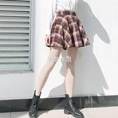 學院毛呢格子半身裙jk半身裙高腰顯瘦a字裙短裙防走光半身裙 SUPER SALE 快速出貨