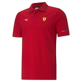 PUMA 法拉利車迷聯名系列 男款紅色短袖Polo衫-NO.59984302
