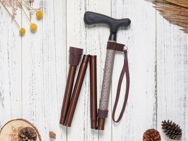 來而康 Merry Sticks 悅杖 醫療用手杖 夜間時尚反光 MS-804摺疊手杖 贈拐杖支撐夾