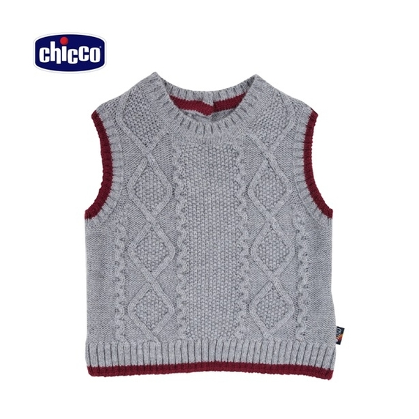 chicco-騎士熊系列-混紡羊毛緹織背心-灰