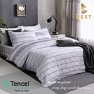 【BEST寢飾】天絲床包兩用被四件式 雙人5x6.2尺 星野 100%頂級天絲 萊賽爾 附正天絲吊牌