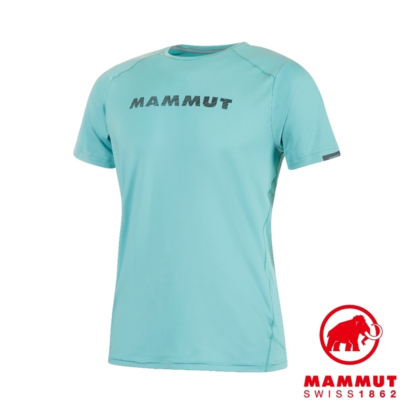 Mammut 長毛象 Splide Logo T-Shirt Men 輕便輕量排汗機能短袖 T-Shirt 男款 水漾藍 #1017-00221