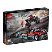 【南紡購物中心】【LEGO 樂高積木】科技 Technic 系列 - 特技表演卡車&摩托車42106