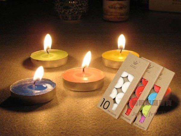 約翰家庭百貨》【WA020】無煙小蠟燭 茶蠟 製造浪漫 燭光晚餐 創意擺圖 告白 點燈 10個裝