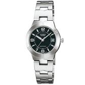 【台南 時代鐘錶 CASIO】卡西歐 台灣公司貨 LTP-1241D-1A 都會優雅氣質腕錶 黑/銀
