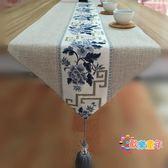 中式禪意餐桌桌旗現代簡約復古棉麻布藝茶桌茶席電視櫃茶几桌布