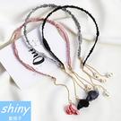 【DJB7409】shiny藍格子-文藝復古花朵珍珠假耳環/髮箍