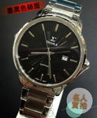 【名人鐘錶・實體店面】SIGMA 熱銷簡約黑面鋼帶錶・藍寶石水晶鏡面・39mm錶面・1122M-1