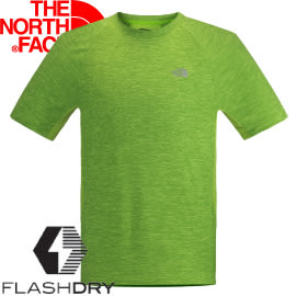 【The North Face 男款 FLASHDRY短袖T恤 鸚鵡綠灰  】NF00CA2F/短袖/T恤/排汗衣★滿額送