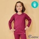 ADISI 童圓領遠紅外線彈性保暖衣AU1821099 (110-160) / 城市綠洲 (抗靜電、白竹炭、消臭、發熱衣)