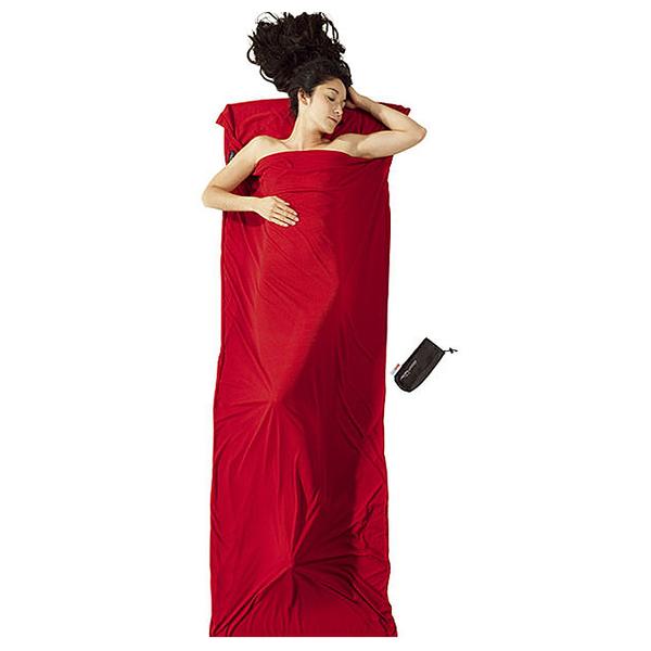 【COCOON奧地利戶外配件 】睡袋內袋標準型型 超暖中空保暖纖維蠶寶袋-紅