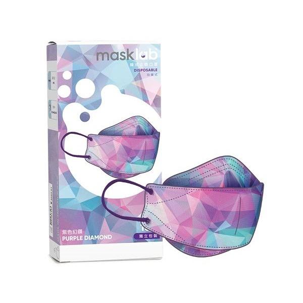 masklab 成人KF韓式立體口罩(盒裝10入) 紫色幻鑽【小三美日】