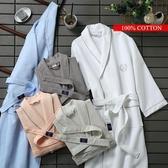 浴袍長款純棉浴衣成人男女士睡袍薄款全棉 原本良品