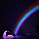 星空投影燈 夢幻少女心星空小夜燈光投影彩虹小紫燈紫色變色拍照【快速出貨八折搶購】