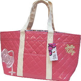 【波克貓哈日網】Hello Kitty 凱蒂貓◇馬卡龍漆皮包◇《粉色菱格米帶》