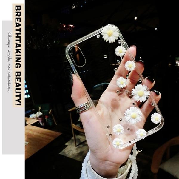 SONY Xperia1 II Xperia5 II Xperia10 Plus Xperia5 XZ3 清新雛菊 手機殼 水鑽殼 訂製