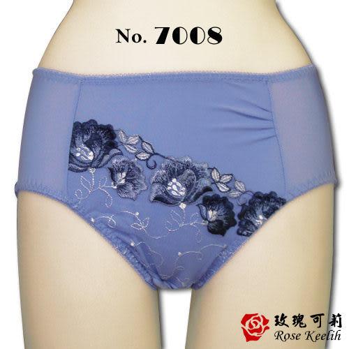 【Kanier卡妮兒】典雅雙色繡花內褲(藍_L.XL_7008)