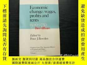 二手書博民逛書店Economic罕見change : prices, wages, profits and rents, 1500