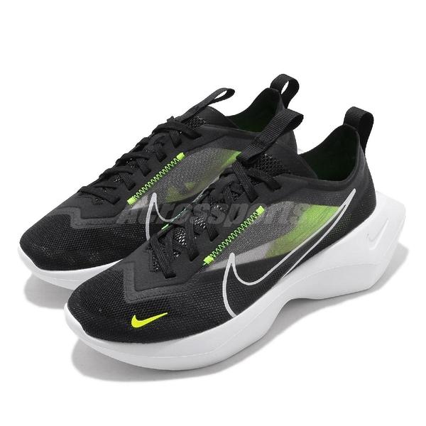 Nike 休閒鞋 Wmns Vista Lite 黑 螢光綠 厚底 透明鞋面 女鞋 增高 【ACS】 CI0905-001