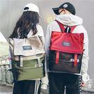 後背包 - 大容量高中拼色雙肩包潮流學生...